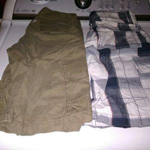 2x lot levis cargo shorts sz 27
